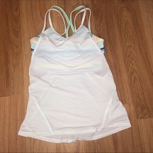 Iviva tank top with built in sports bra